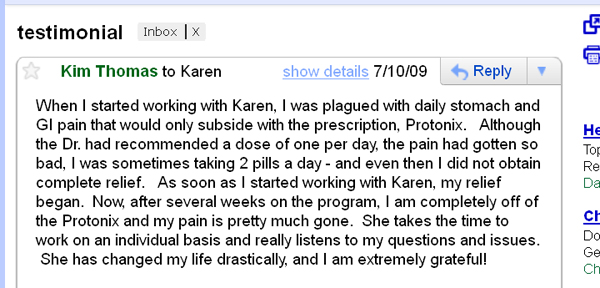 Leaky Gut Syndrome Testimonial